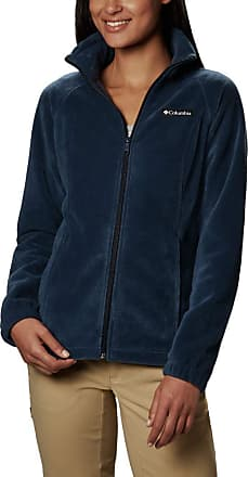 Columbia Womens Plus-Size Benton Springs Fleece Jacket, Navy, 3X
