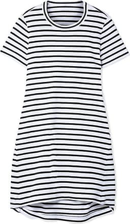sacai Dixie Cutout Striped Cotton-jersey Mini Dress - White