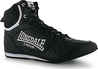 Lonsdale Herren Boxschuhe Boxen Stiefel Turnschuhe Schnuerschuhe Sport Schuhe  Schwarz Weiß 7 ... 3ddbd554d3