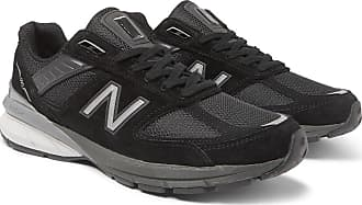 New Balance M990v5 Suede And Mesh Sneakers - Black