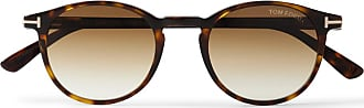 Tom Ford Round-frame Tortoiseshell Acetate Sunglasses - Brown