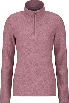 Mountain Warehouse Cambridge Half Zip Womens Top - Long Sleeve Sweater, Soft, Warm & Cosy Pullover - Ideal for Travelling, Hiking & Daily Use Pink 20
