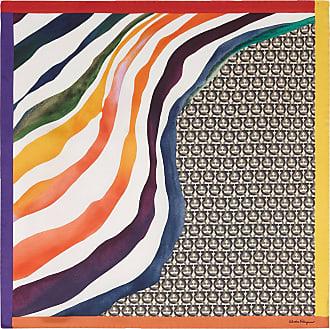 Salvatore Ferragamo Women Gancini rainbow scarf Multicolor