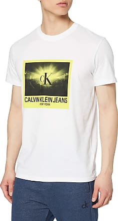 Calvin Klein Jeans Mens Rave Photo Box REG TEE T - Shirt, White (Bright White Yaf), X-Large (Size:XL)