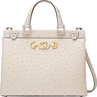 d3babc3e915b3 Gucci Mittelgroße Gucci Zumi Henkeltasche aus Straußenleder