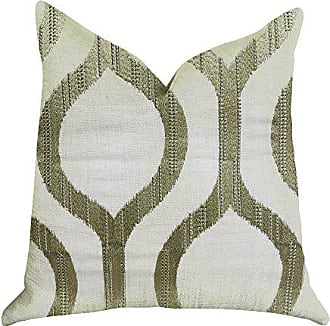 Plutus Brands Morrocan Villa Light Grass Double Sided Luxury Throw Pillow, 22 x 22, Green/Beige