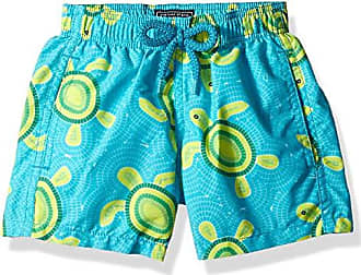 Vilebrequin Mens Jim Mosaic Turtles Swim Trunk, Curacao, 2ANS