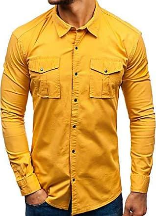 Herren Freizeithemd Herrenhemd Langarmhemd Slim Hemd Unifarben BOLF 2B2 Casual