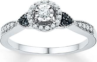 Kay Jewelers Black/White Diamond Promise Ring 1/5 ct tw Sterling Silver