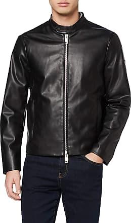 A X Armani Exchange Mens Eco-leather Blouson Bomber Jacket, Black (Black 1200), X-Large