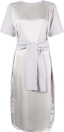 Nina Ricci Vestido com detalhe de amarração - Cinza