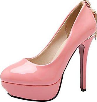 1ca953ad02b362 UH Damen Stiletto High Heels Plateau Lack Pumps mit Strass 12CM Absatz  Elegante Party Schuhe