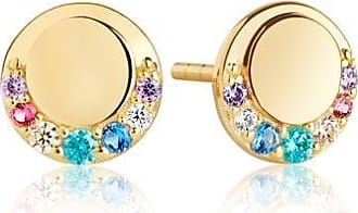 Sif Jakobs Jewellery Earrings Portofino Piccolo with multicoloured zirconia - 18k gold plated