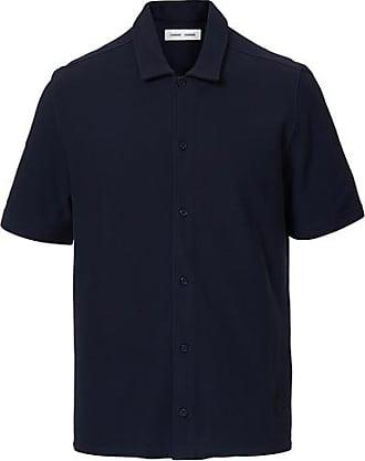 Samsøe & Samsøe Kvistbro Organic Cotton Short Sleeve Shirt Night Sky