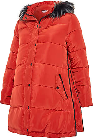 Yours Clothing Clothing Womens Puffer Coat Hooded Padded Maternity Plus Size Size 26-28 Red