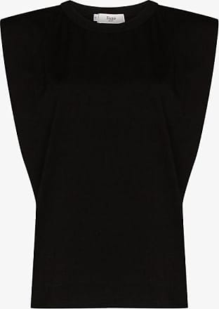 Frankie Shop Womens Black Eva Padded Cotton T-shirt