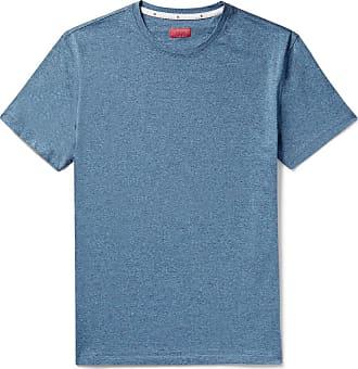 Isaia Mélange Cotton-jersey T-shirt - Blue