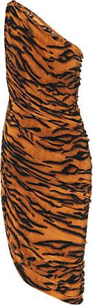 Norma Kamali Exclusive to Mytheresa - Diana tiger-print one-shoulder minidress