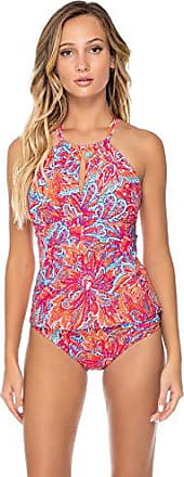 72c1c3e462 Sunsets Womens Mia Bra Sized High Neck Tankini Top Swimsuit, Samba, DD-Cup