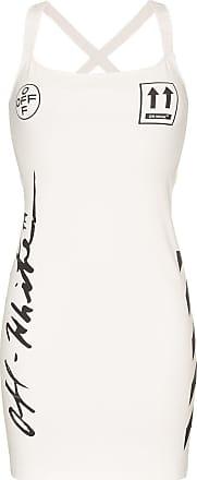 Off-white Vestido com estampa de logo - Branco