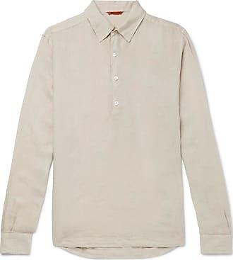 Barena Linen Half-placket Shirt - Neutral
