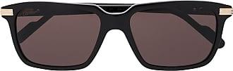 Cartier Óculos de sol retangular C de Cartier - Preto