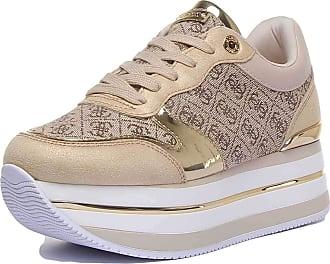 Guess Ladies Hinders Platform Sneakers (7 UK) Gold