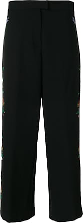 Vivetta floral embroidered wide leg trousers - Black
