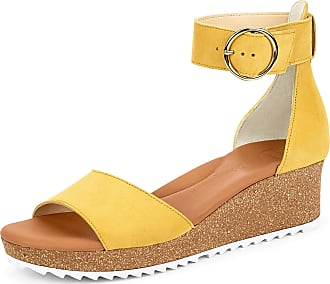 Paul Green 7386 Womens Sandals Yellow Size: 8.5 UK