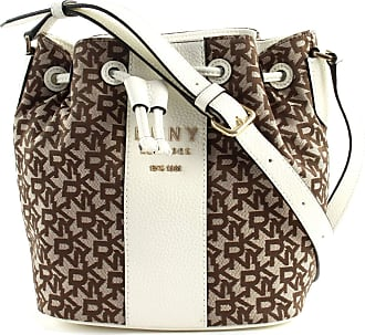 DKNY Noho Bucket bag brown/white