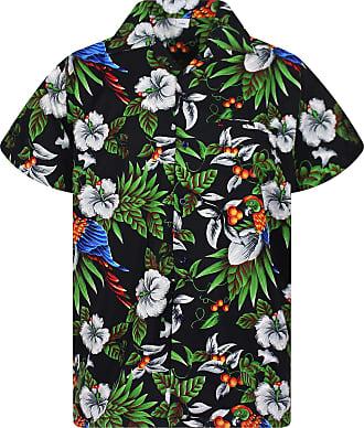 V.H.O. Funky Hawaian Shirt, Bird Cherry, black, 3XL