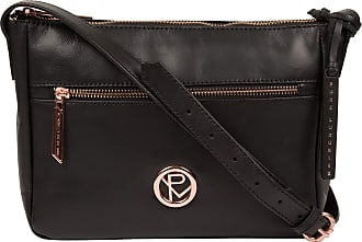 Pure Luxuries London Pure Luxuries London Matisse Womens 27cm Biodegradable Leather Cross Body Bag with Rose Gold Metal Fittings, Zip Over Top, 100% Cotton Lining and Adju