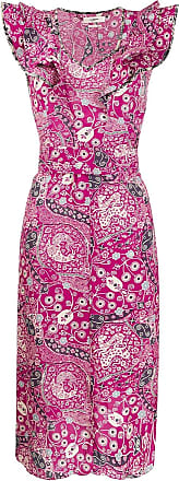 Isabel Marant Vestido midi Coraline floral - Rosa
