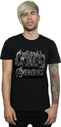 MARVEL Mens Avengers Mono Team Art T-Shirt Small Black