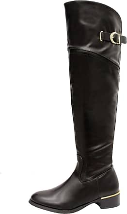 Saute Styles Ladies Women Faux Leather Heels Calf Over The Knee High Boots Shoes Size 3