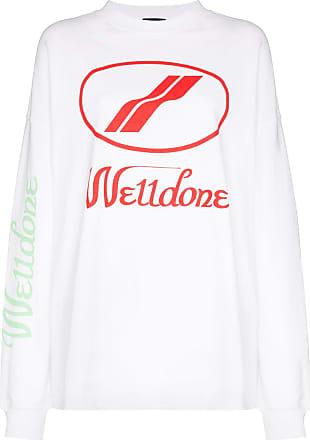 We11done Moletom com estampa de logo - Branco