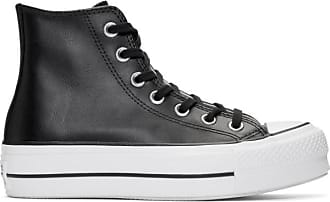 2840855f3213 Converse Black Leather Chuck Taylor All Star Lift Clean Sneakers