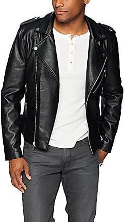 GUESS Men's Logan Moto Faux Leather Jacket