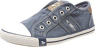 Mustang Damen Slip-On Sneakers Slipper Canvas Pfirsich 1099-401-630 Schuhe