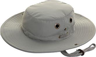 Hawkins Mens Lightweight Wide Brim Aussie Sun Hat Hidden Pocket Green Size M 58cm