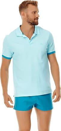 Vilebrequin Men Cotton Pique Polo Shirt Solid - Aquamarine - XL