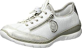 Rieker Damen L0925 Hohe Sneaker Weiß WeissLightgold