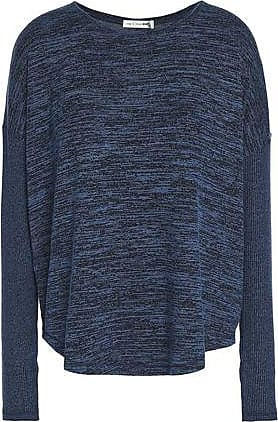 Rag & Bone Rag & Bone Woman Amelie Mélange Stretch-jersey Top Storm Blue Size XS