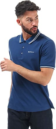 Ben Sherman Mens Mens Twin Tipped Polo Shirt in Blue - S