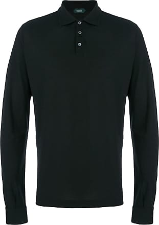 Zanone long sleeve polo shirt - Black