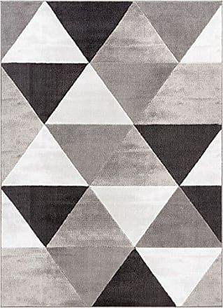 Well Woven DU-37-5 Dulcet Retro Shapes Modern Geometric Triangles Grey Area Rug 5 x 72
