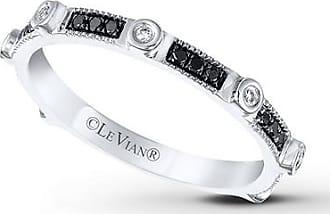 Le Vian Black Diamonds 1/6 ct tw Ring 14K Vanilla Gold