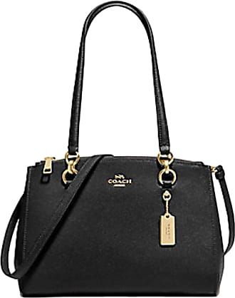 Coach Etta Carryall Crossbody Shoulder Handbag Purse F76938 Black Size: L