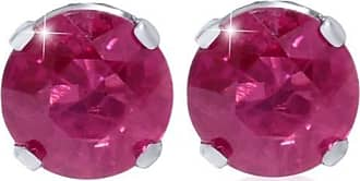 Pompeii3 1/4ct Genuine Ruby Studs 14K White Gold