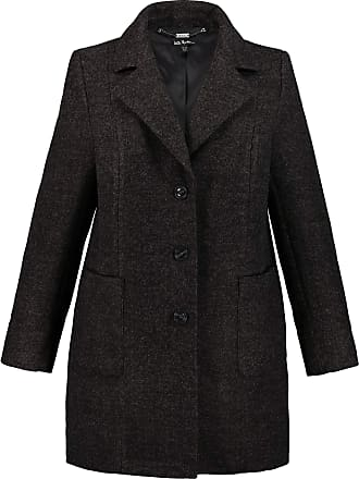 Ulla Popken Womens Plus Size Fashionable Melange Coat Anthracite Melange 32/34 724395 11-58+